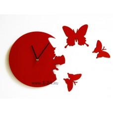"Часы ""Красные бабочки"" Арт. 00141"